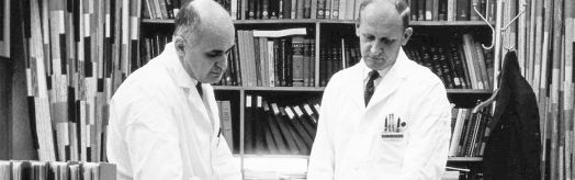 Dr. Hilleman and colleague